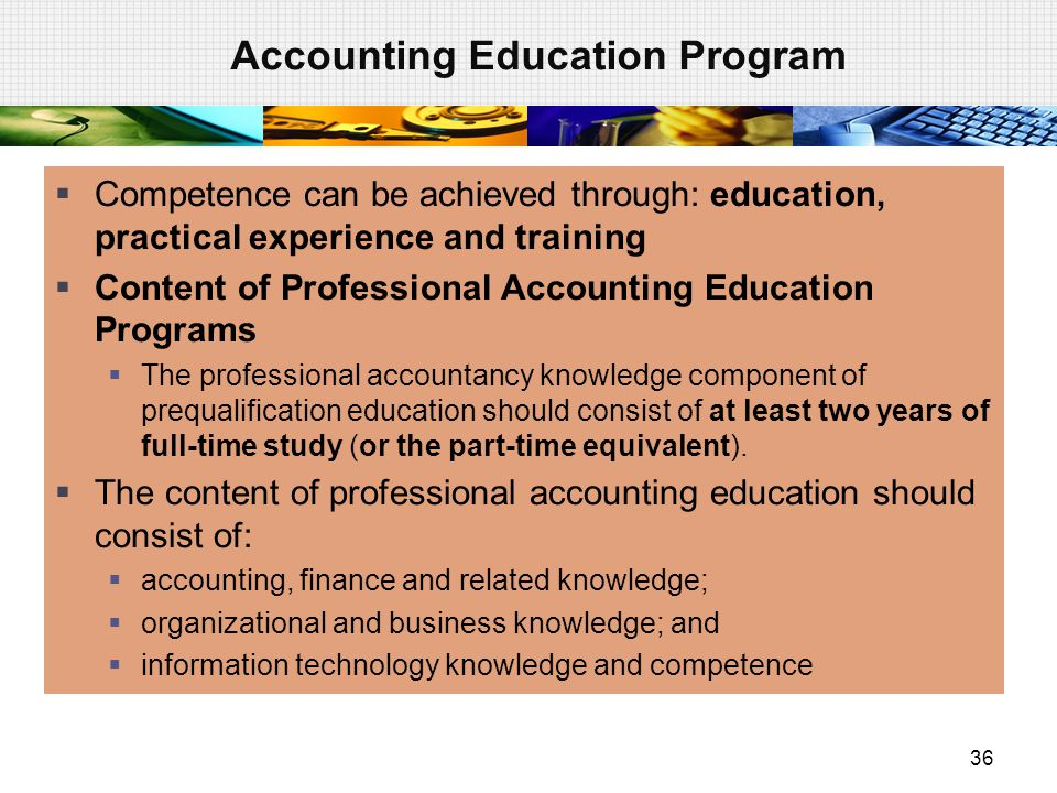 Accounting Education Program
