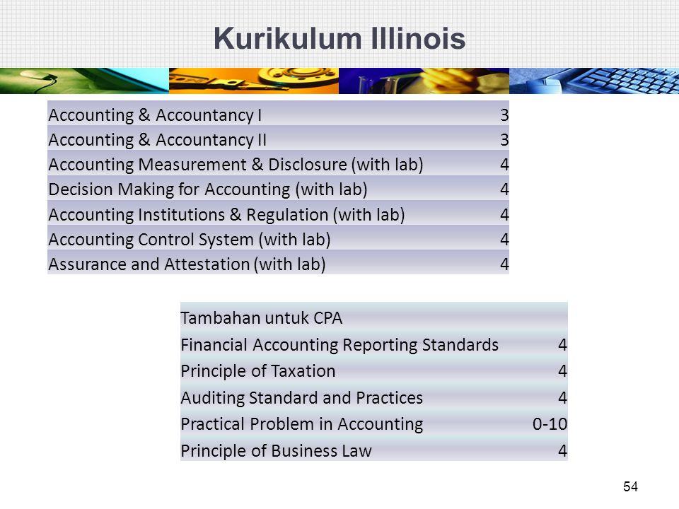 Kurikulum Illinois Accounting & Accountancy I 3