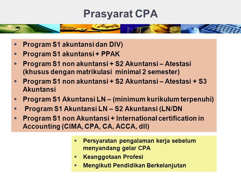 Prasyarat CPA Program S1 akuntansi dan DIV)