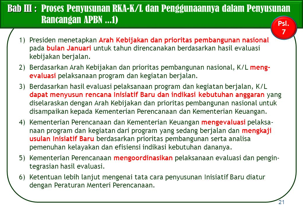Bab III : Proses Penyusunan RKA-K/L dan Penggunaannya dalam Penyusunan Rancangan APBN ...1)