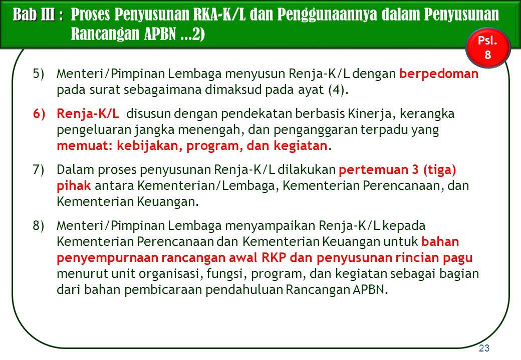 Bab III : Proses Penyusunan RKA-K/L dan Penggunaannya dalam Penyusunan Rancangan APBN ...2)