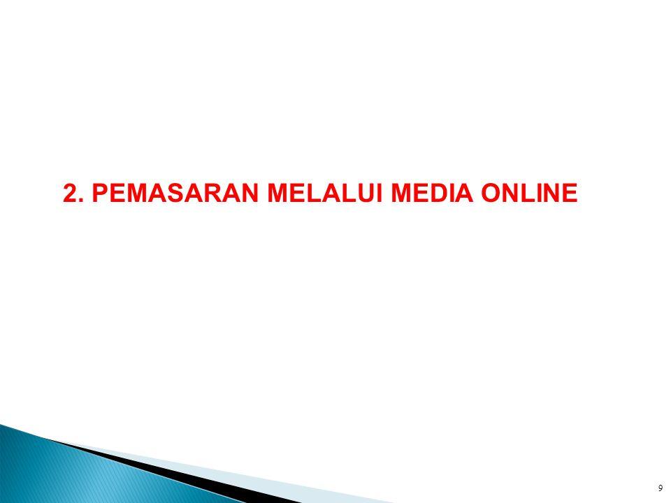 2. PEMASARAN MELALUI MEDIA ONLINE
