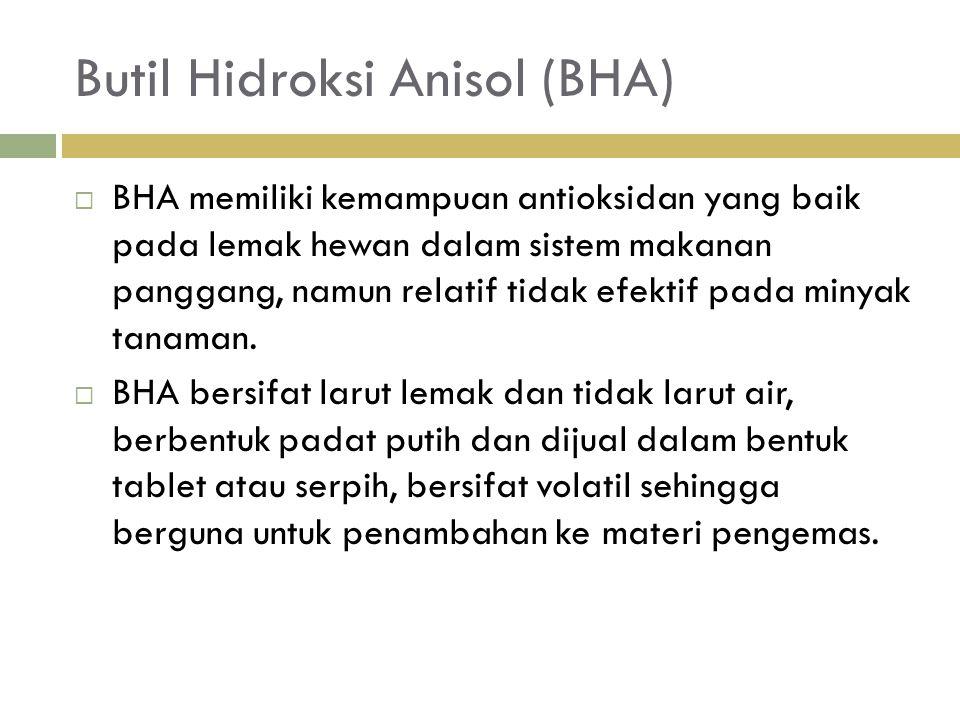 Butil Hidroksi Anisol (BHA)