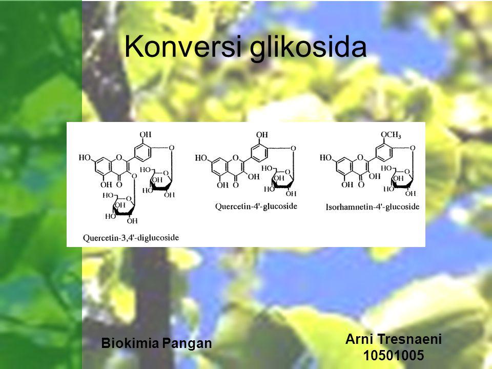 Konversi glikosida Arni Tresnaeni 10501005 Biokimia Pangan