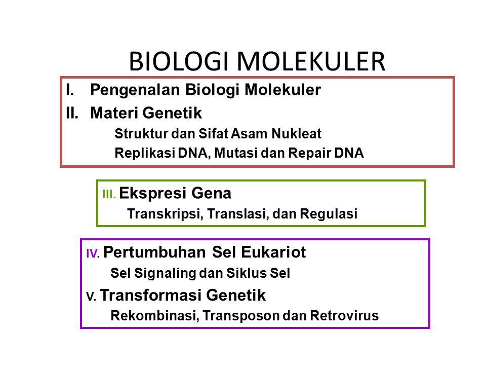 BIOLOGI MOLEKULER Pengenalan Biologi Molekuler Materi Genetik