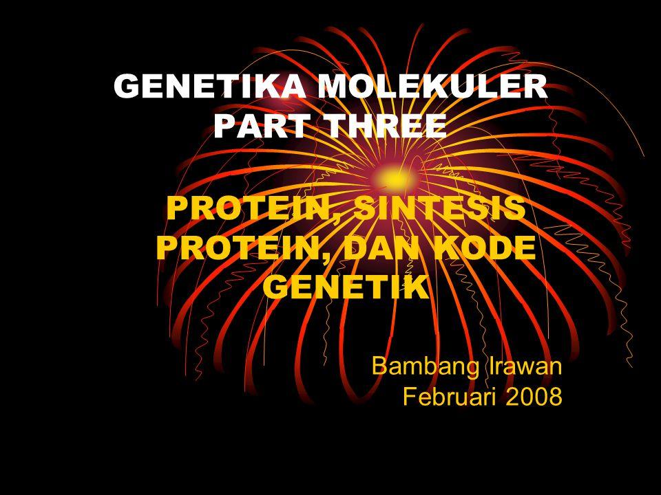 GENETIKA MOLEKULER PART THREE
