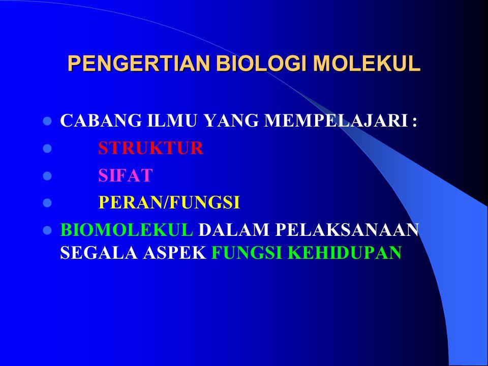 PENGERTIAN BIOLOGI MOLEKUL