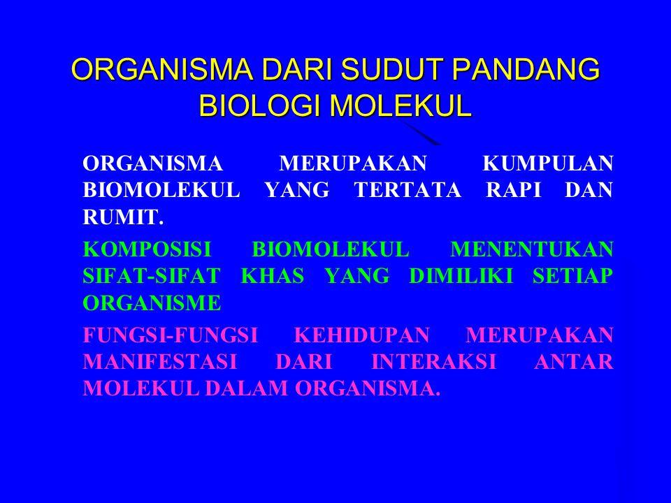 ORGANISMA DARI SUDUT PANDANG BIOLOGI MOLEKUL