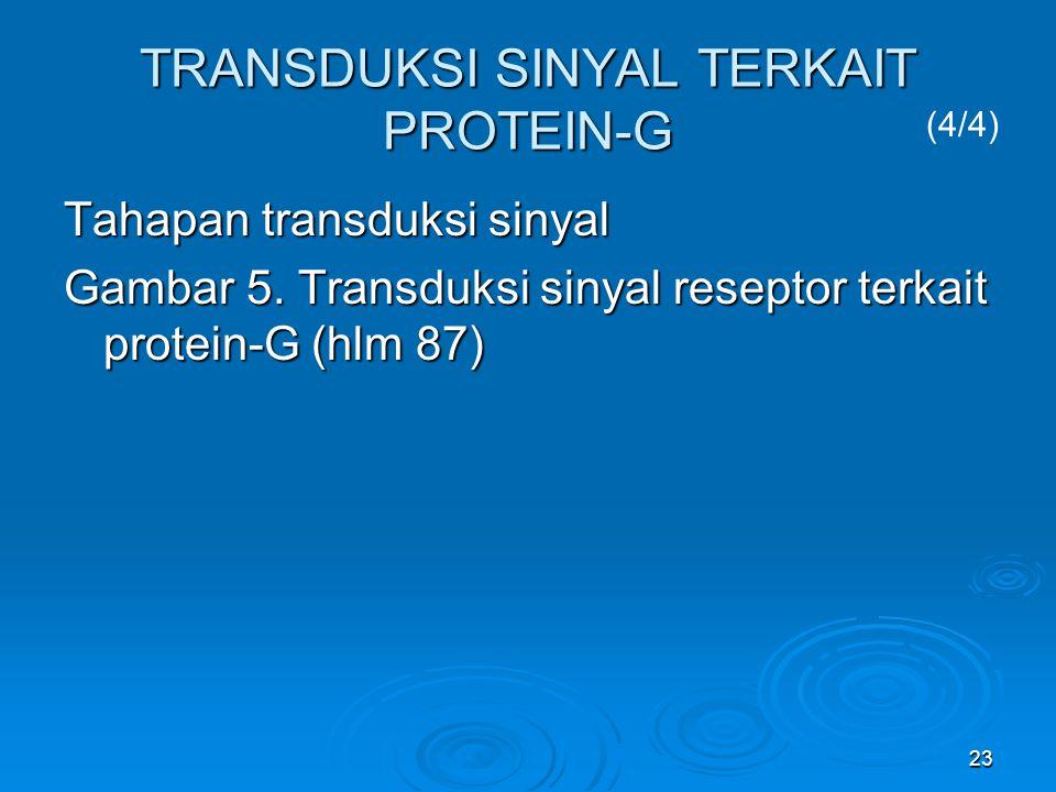 TRANSDUKSI SINYAL TERKAIT PROTEIN-G