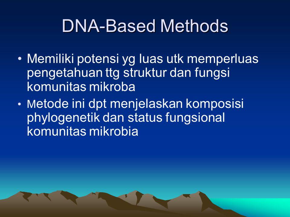DNA-Based Methods Memiliki potensi yg luas utk memperluas pengetahuan ttg struktur dan fungsi komunitas mikroba.