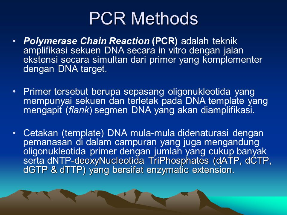 PCR Methods