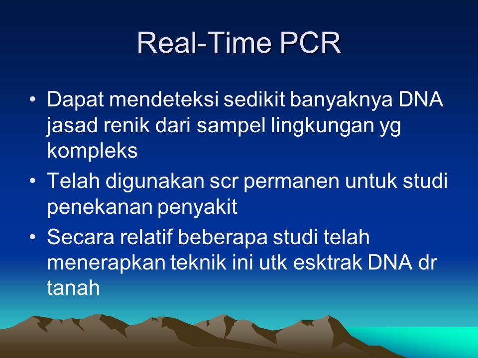 Real-Time PCR Dapat mendeteksi sedikit banyaknya DNA jasad renik dari sampel lingkungan yg kompleks.