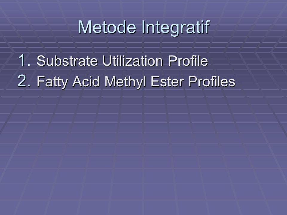 Metode Integratif Substrate Utilization Profile