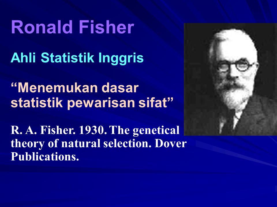 Ronald Fisher Ahli Statistik Inggris