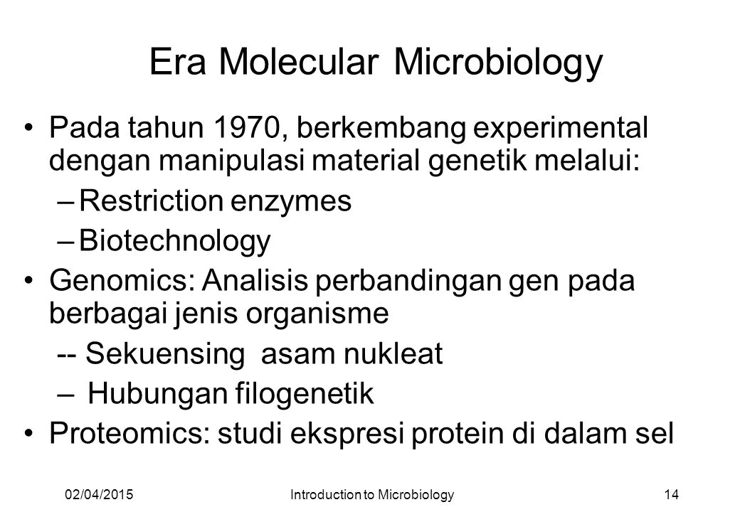 Era Molecular Microbiology