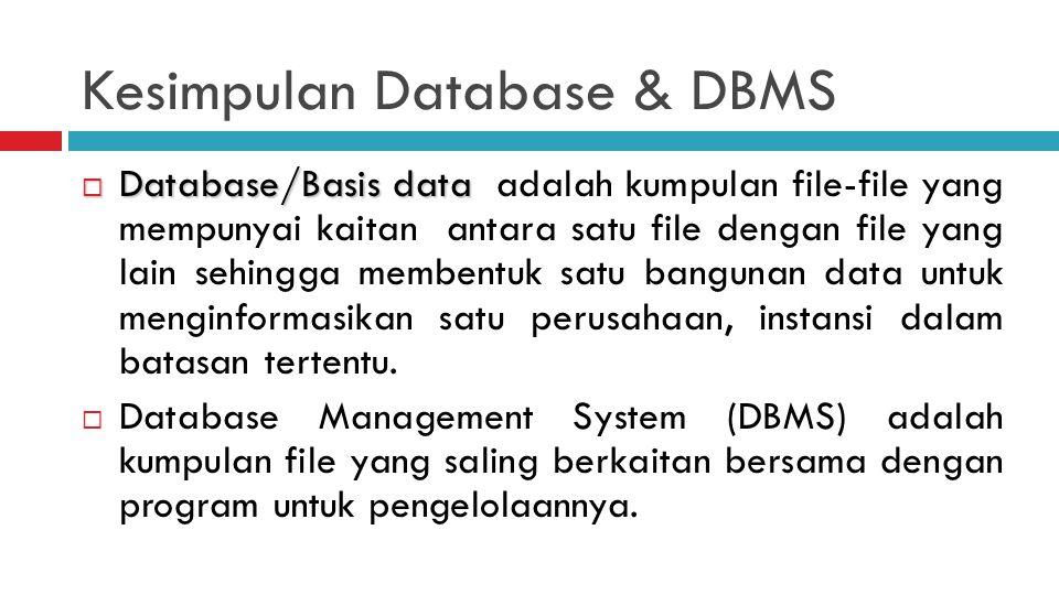 Kesimpulan Database & DBMS