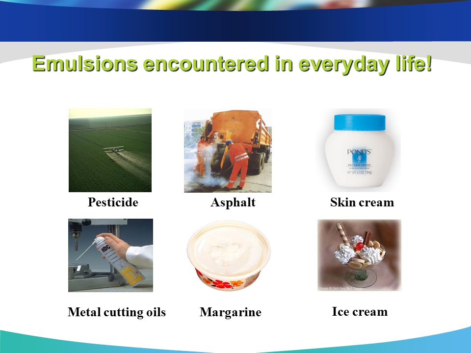 Emulsions encountered in everyday life!
