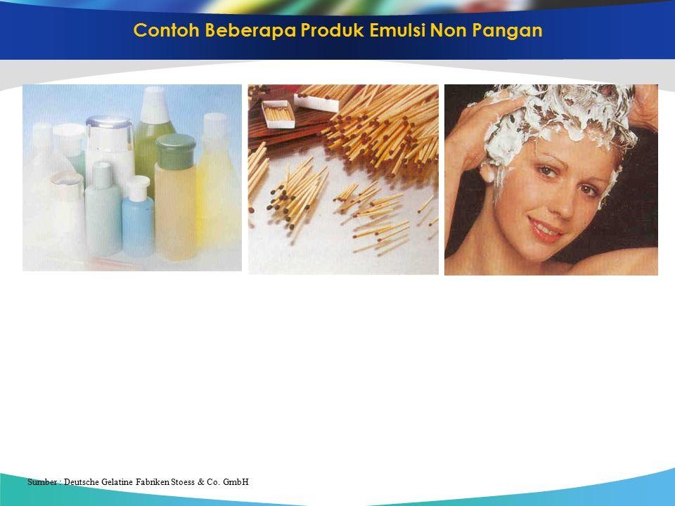 Contoh Beberapa Produk Emulsi Non Pangan