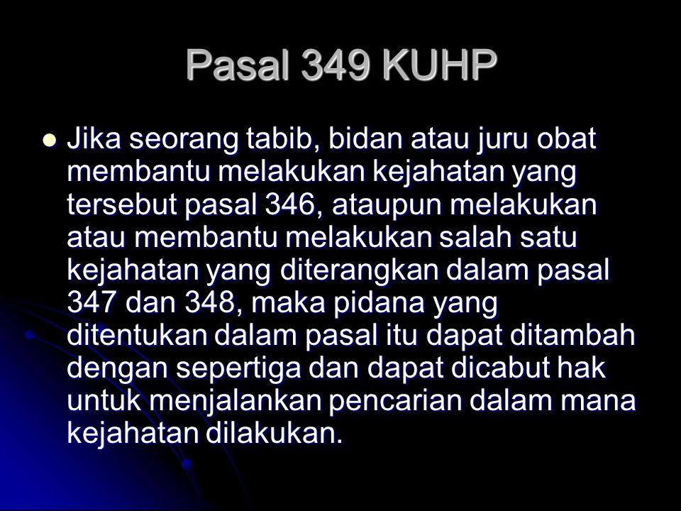Pasal 349 KUHP