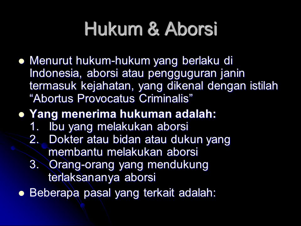 Hukum & Aborsi