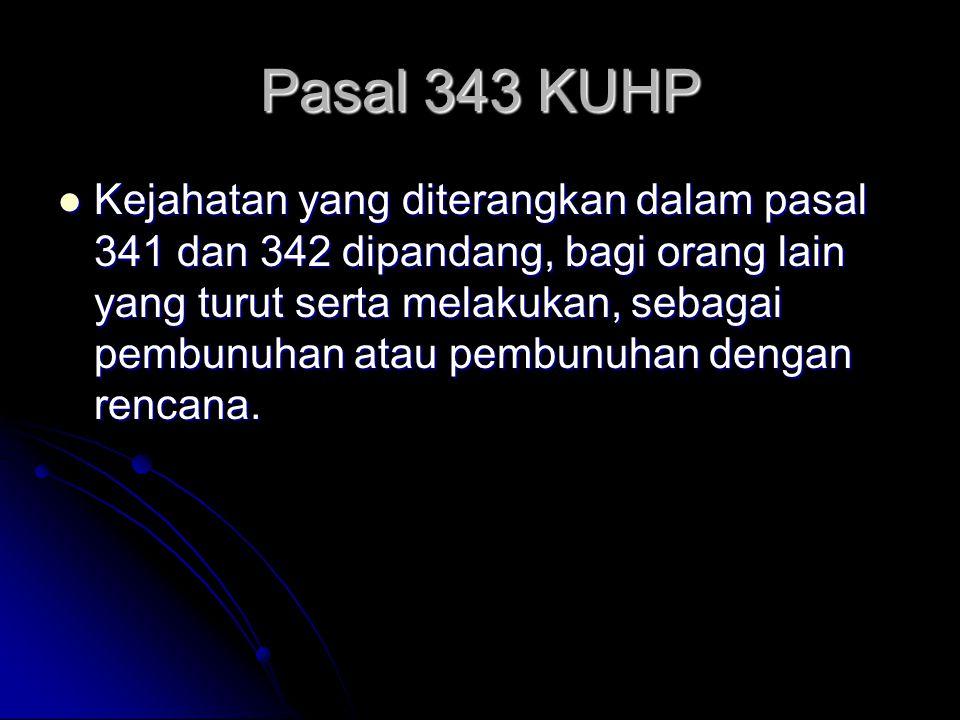 Pasal 343 KUHP