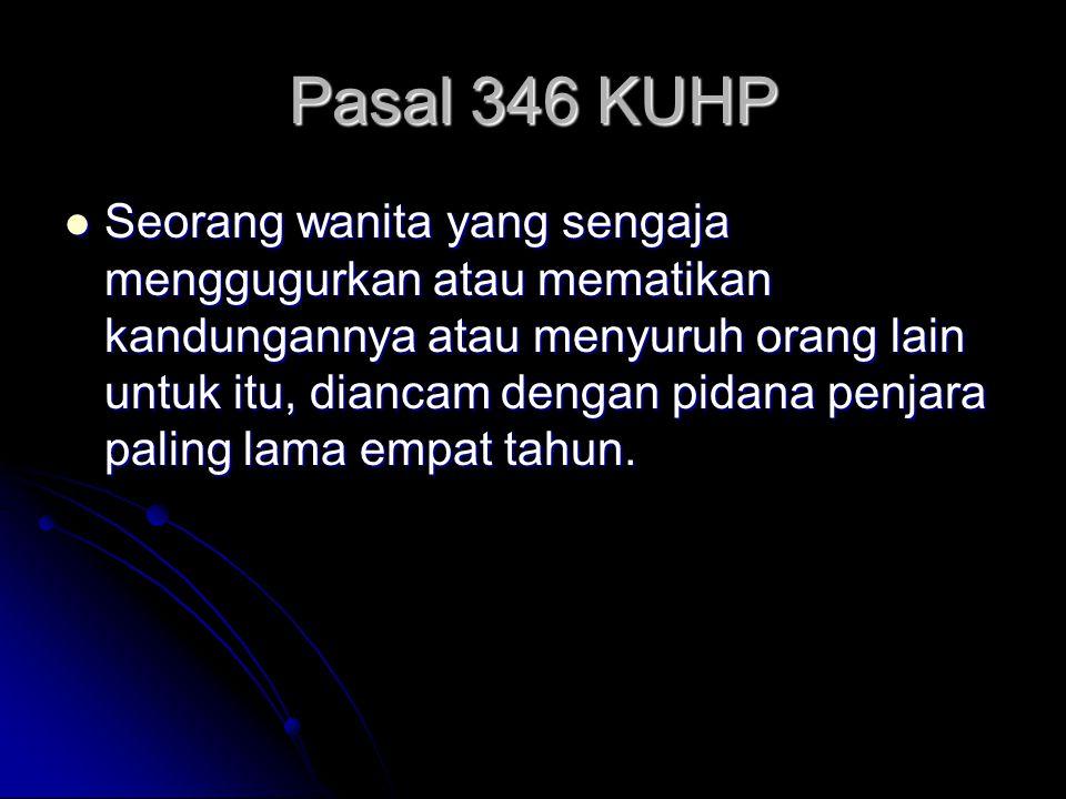 Pasal 346 KUHP