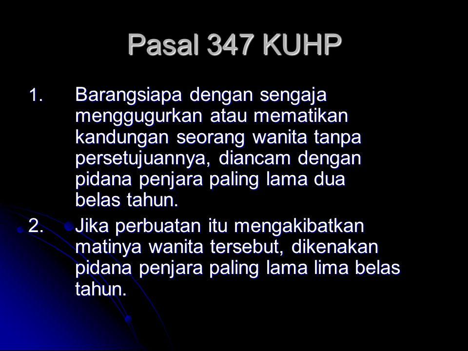 Pasal 347 KUHP