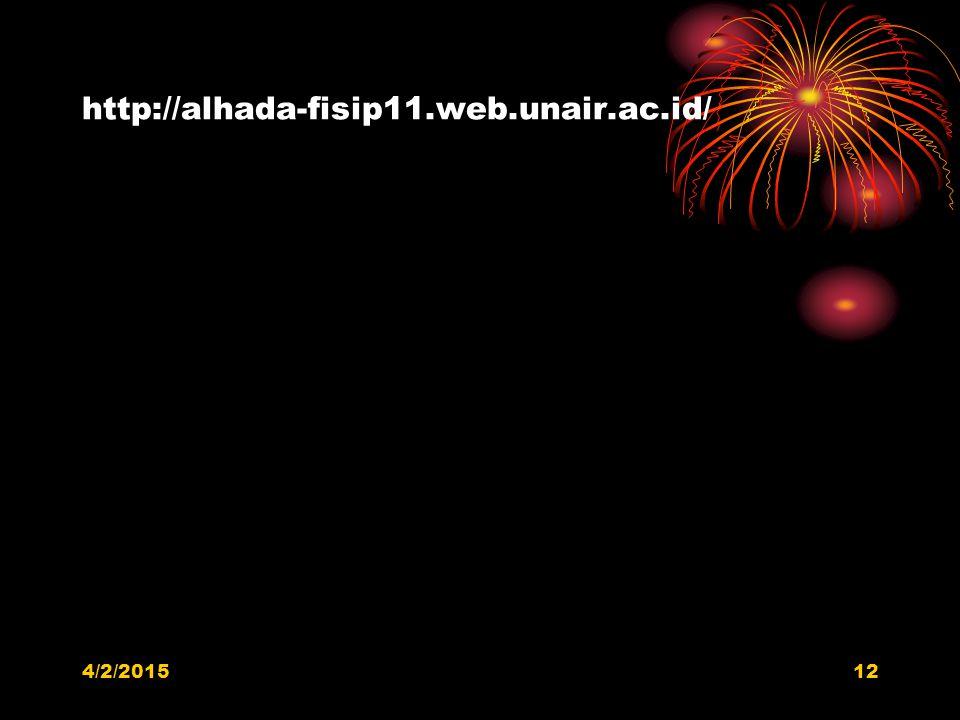 http://alhada-fisip11.web.unair.ac.id/ 4/9/2017