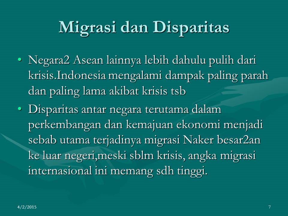 Migrasi dan Disparitas