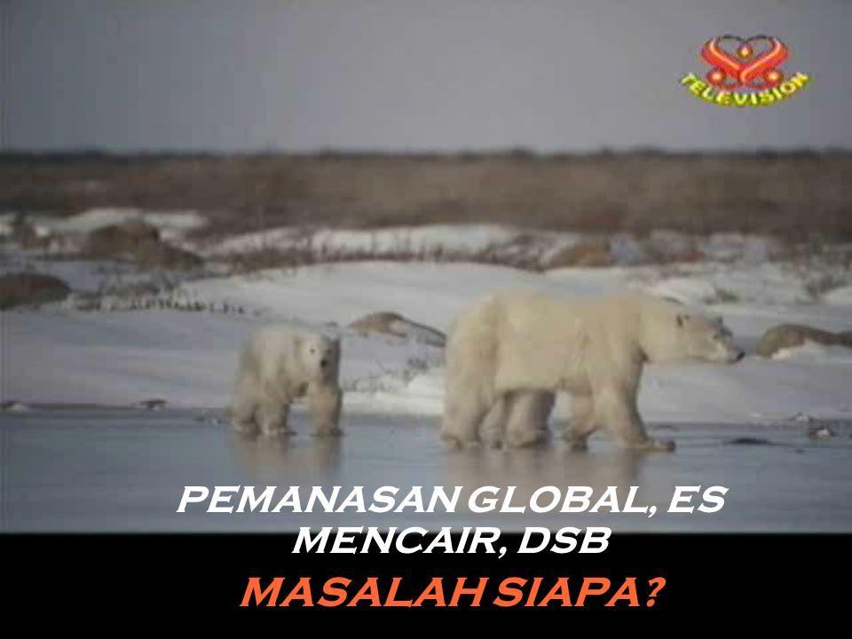 PEMANASAN GLOBAL, ES MENCAIR, DSB MASALAH SIAPA