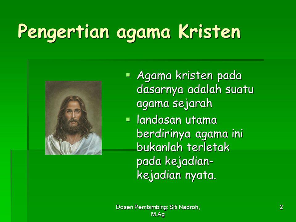 Pengertian agama Kristen