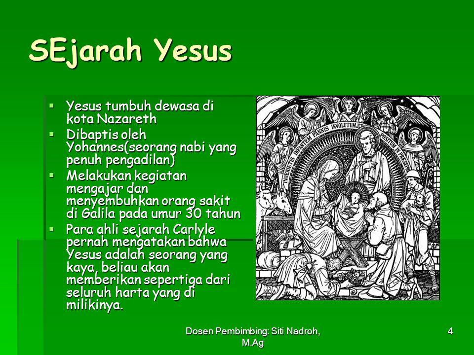 Dosen Pembimbing: Siti Nadroh, M.Ag