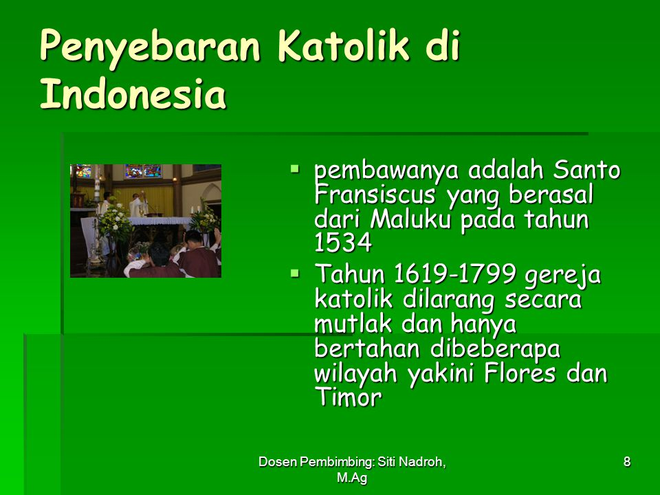Penyebaran Katolik di Indonesia