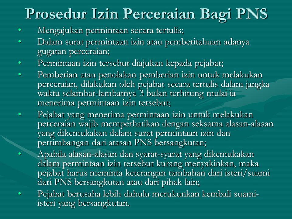 Prosedur Izin Perceraian Bagi PNS
