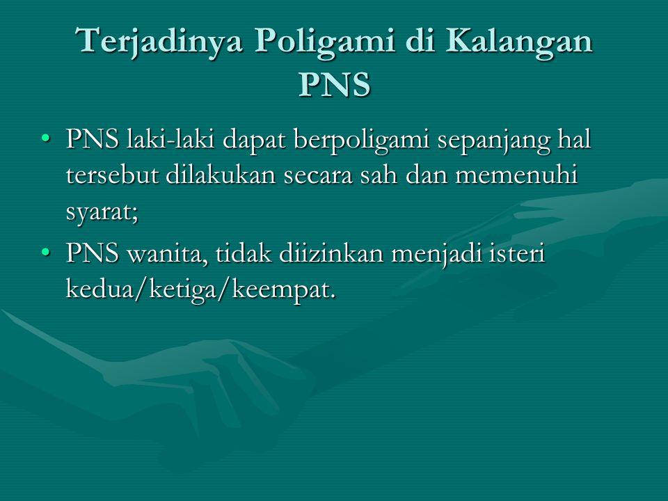 Terjadinya Poligami di Kalangan PNS