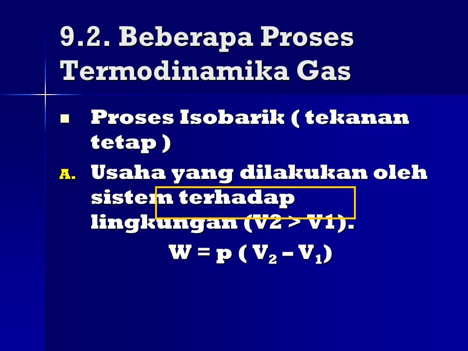 9.2. Beberapa Proses Termodinamika Gas