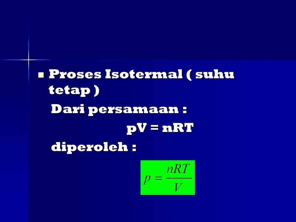 Proses Isotermal ( suhu tetap )