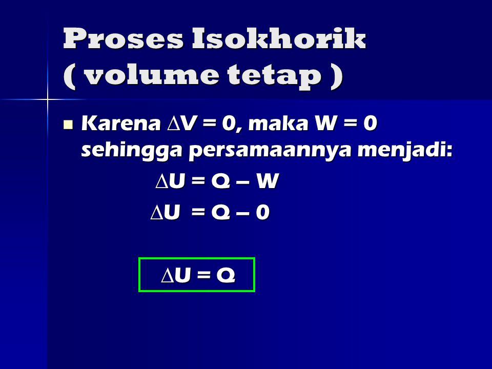 Proses Isokhorik ( volume tetap )