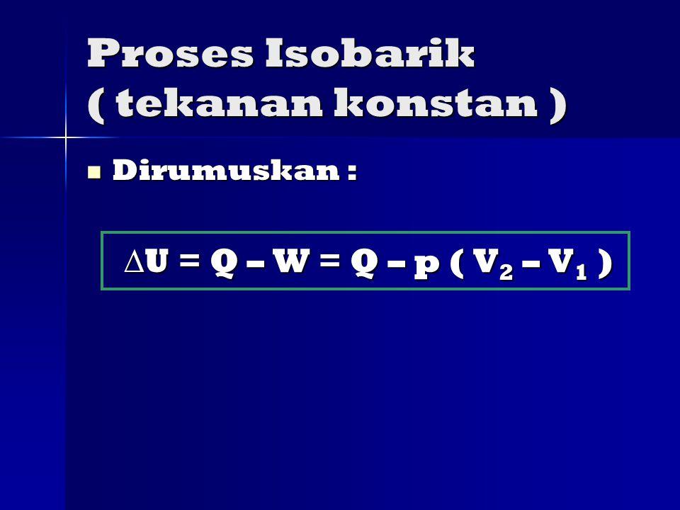 Proses Isobarik ( tekanan konstan )