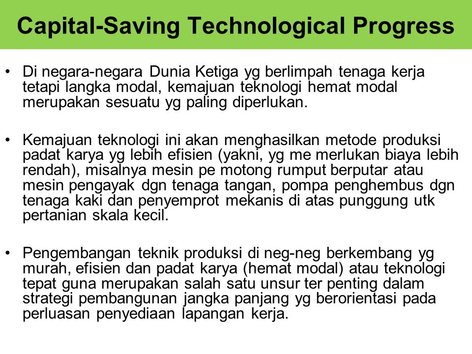 Capital-Saving Technological Progress