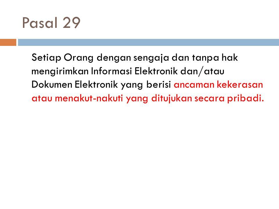 Pasal 29
