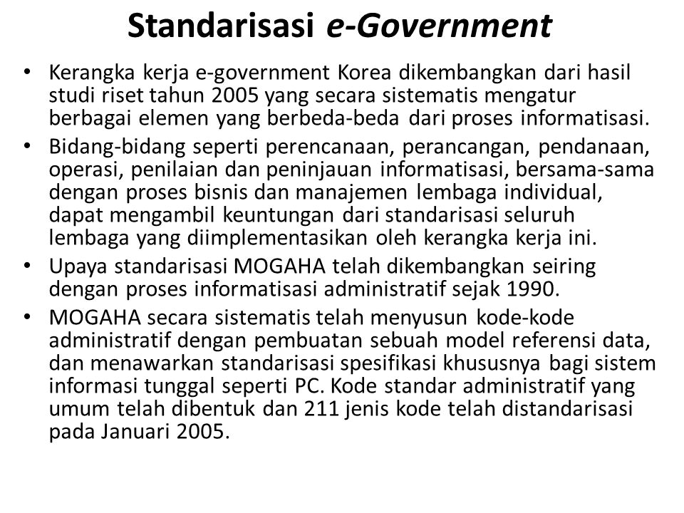 Standarisasi e-Government
