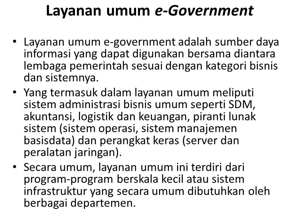 Layanan umum e-Government