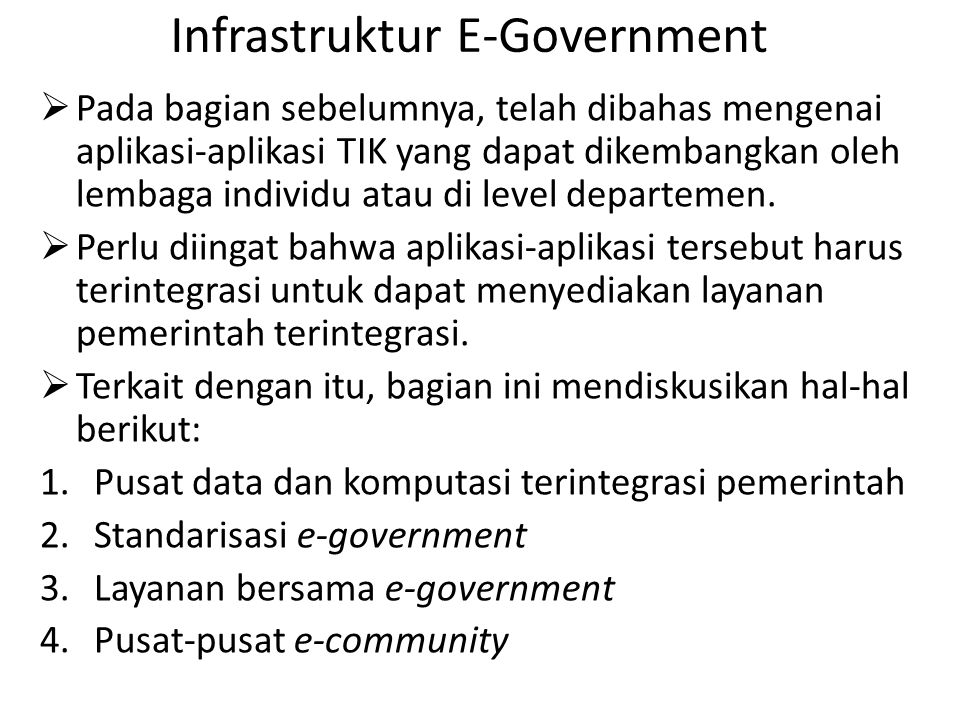 Infrastruktur E-Government