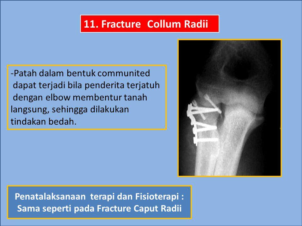 11. Fracture Collum Radii -Patah dalam bentuk communited