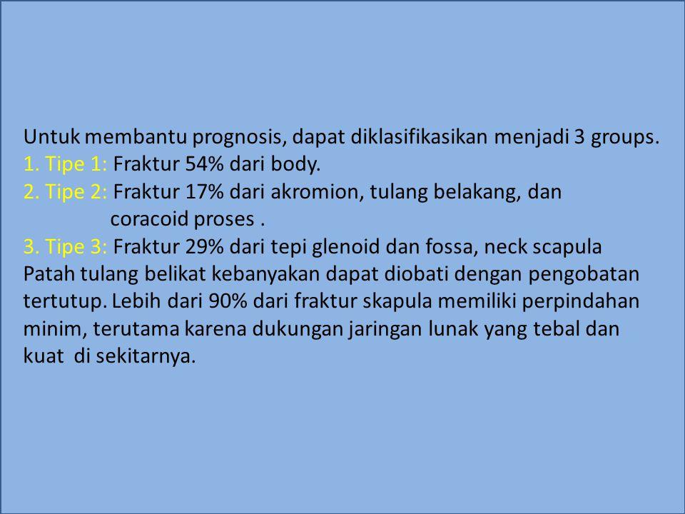 Untuk membantu prognosis, dapat diklasifikasikan menjadi 3 groups. 1