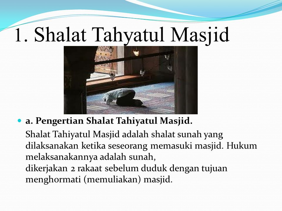 1. Shalat Tahyatul Masjid