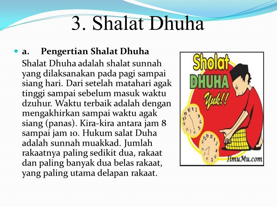 3. Shalat Dhuha a. Pengertian Shalat Dhuha