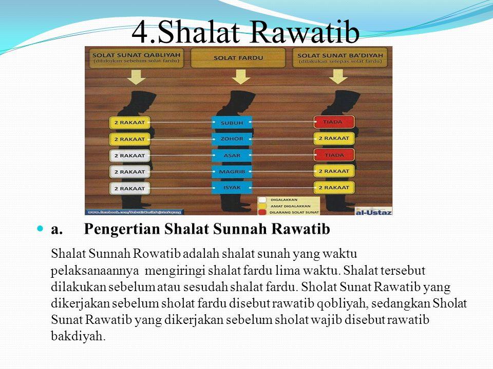 4.Shalat Rawatib a. Pengertian Shalat Sunnah Rawatib