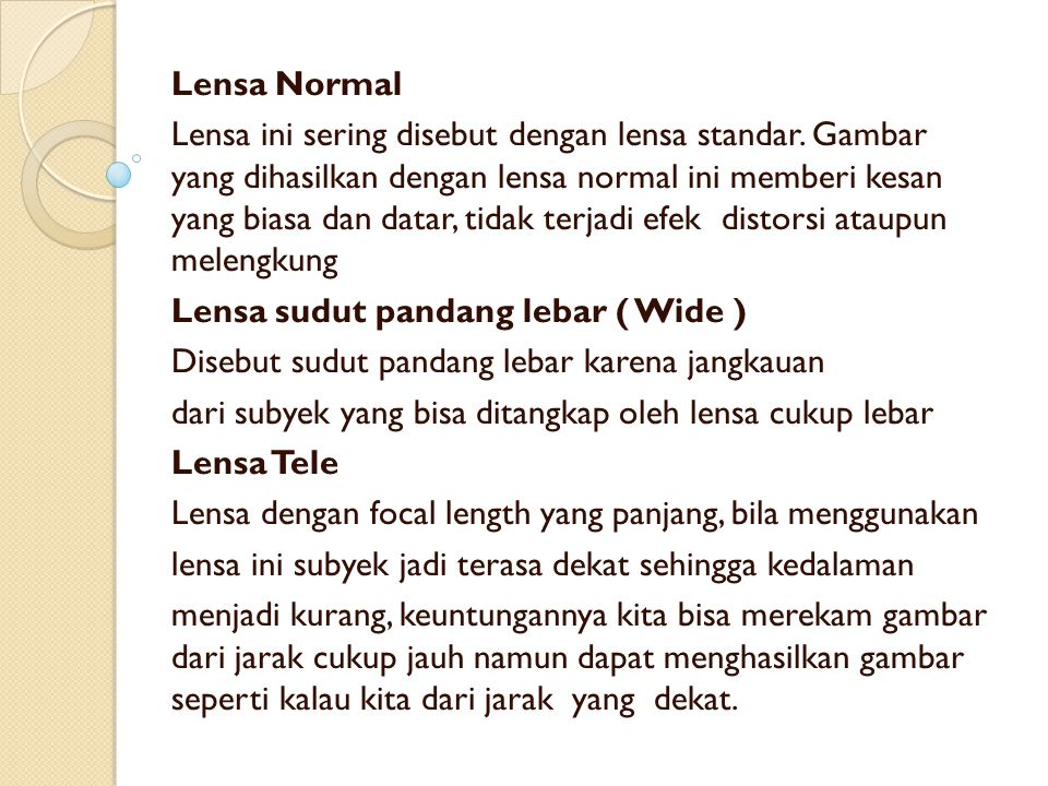 Lensa Normal